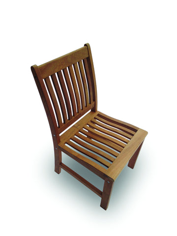 Compass Armless Dining Chair Royal Teak Collection