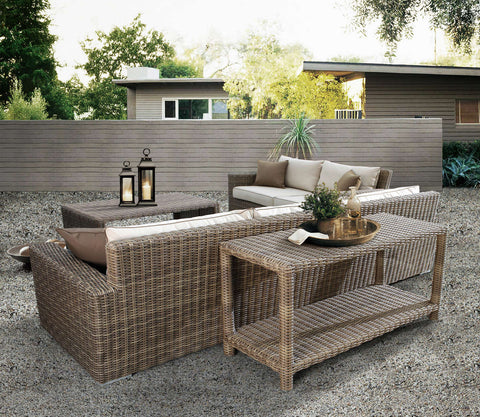 Outdoor Wicker Deep Seating Set Sunset West Patio Furniture