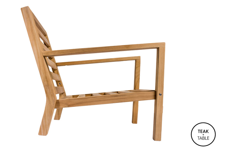 Coastal Club Chair Frame Royal Teak Collection