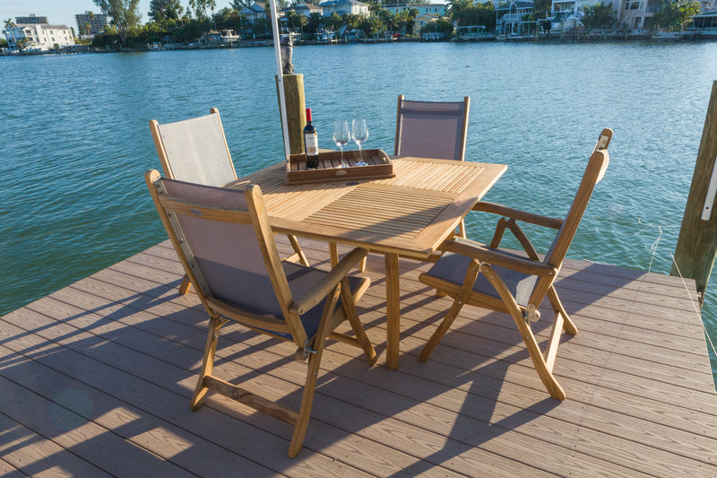"Royal Teak Collection Dolphin 50"" Square"
