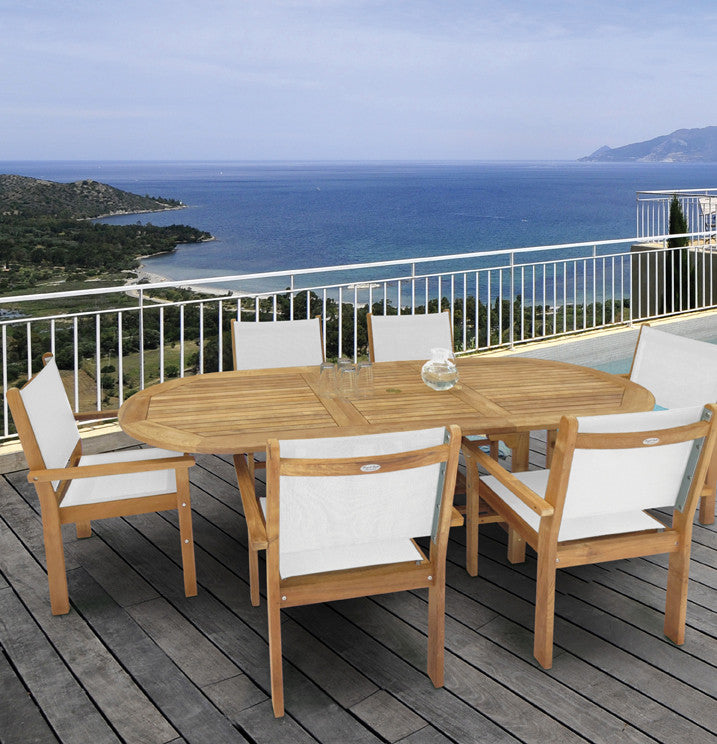 Royal Teak Collection Captiva Sling Stacking Chair