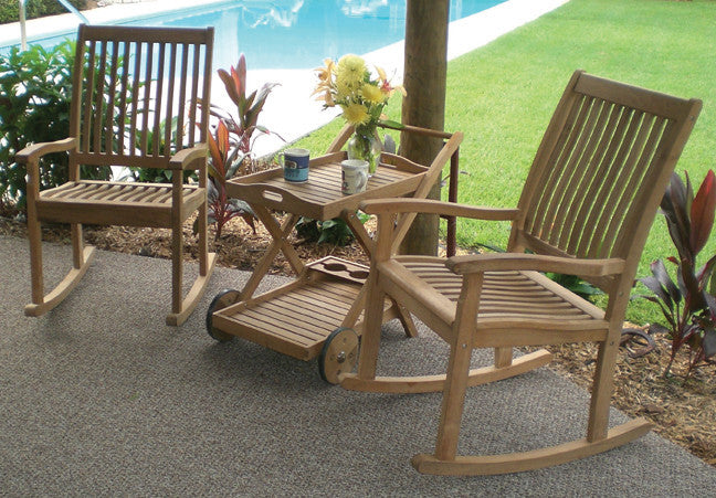 High Back Rocking Chair Royal Teak Collection