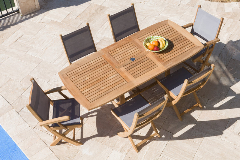 Sailmate Teak Outdoor Dining Set (7PC SET)