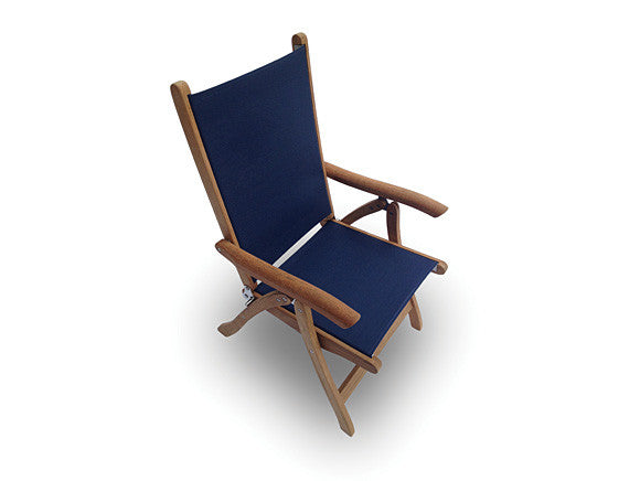 Royal Teak Collection Florida Chair Navy Sling