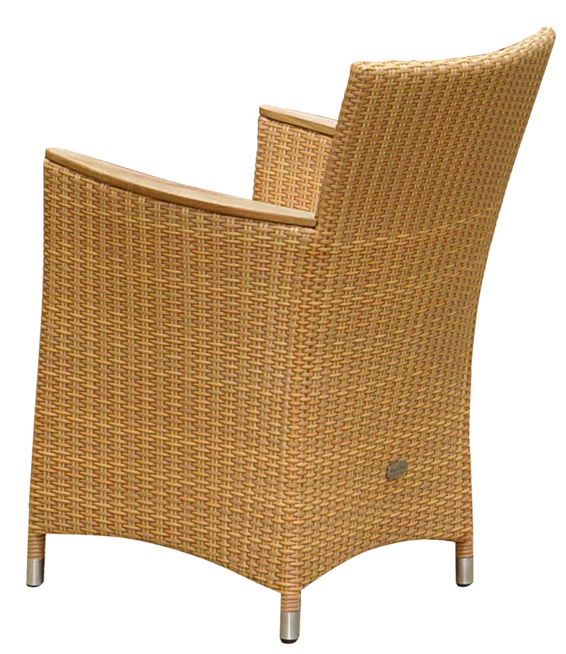 Royal Teak Collection Helena Full Weave Dining Chair - Honey Wicker