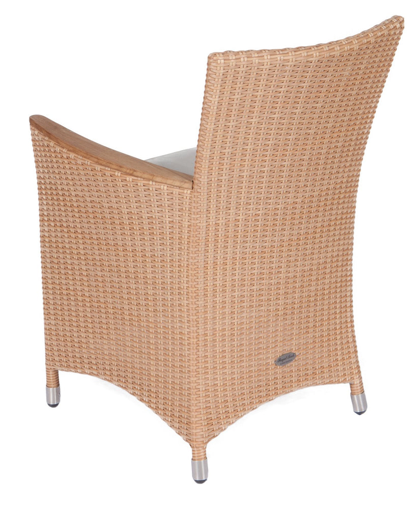 Royal Teak Collection Helena Full Weave Outdoor Wicker Dining Chair