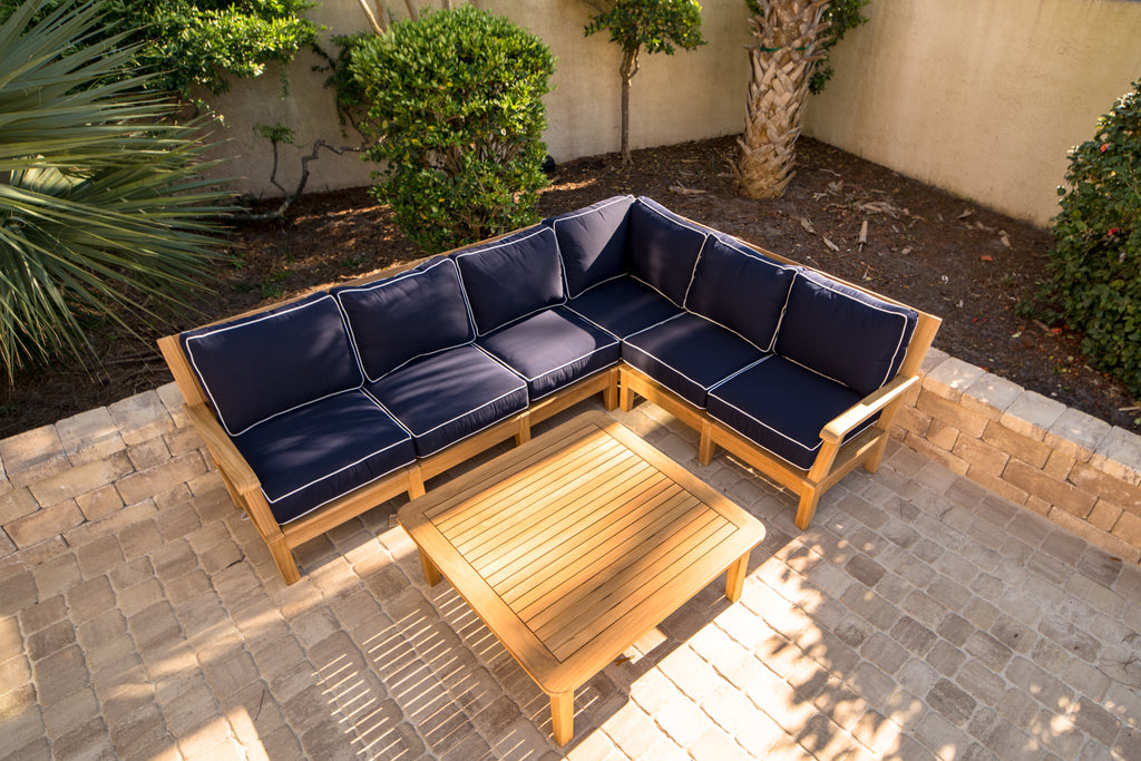 Royal Teak Collection Outdoor Teak Sectional