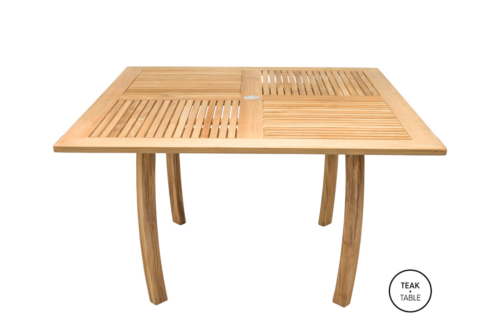 "Dolphin 50"" Square Dining Table Royal Teak Collection"