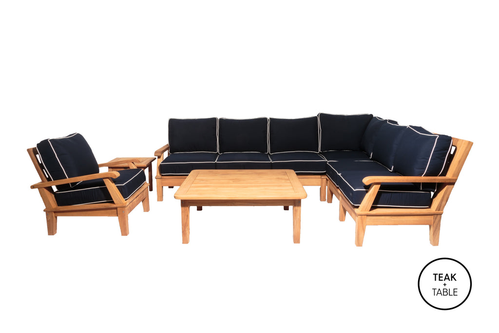 Miami Sectional Set 7PC Royal Teak Collection