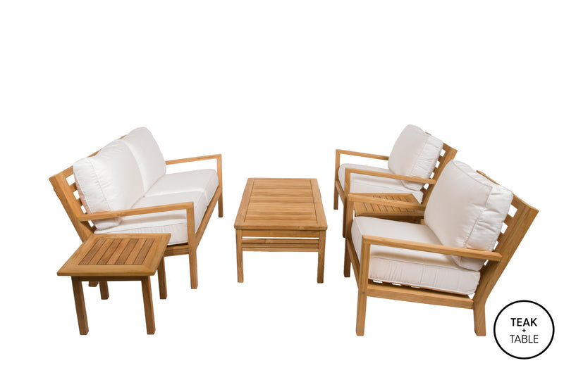 Royal Teak Collection Coastal Deep Seating Set 6 PC