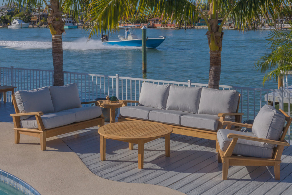 Royal Teak Collection Miami 5PC Outdoor Lounge Set