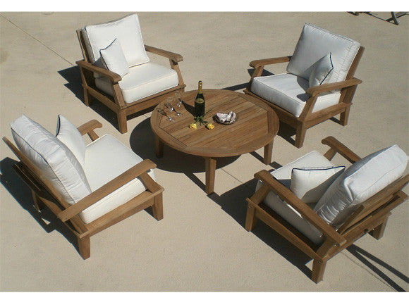 Miami Club Chair Set (5PC)