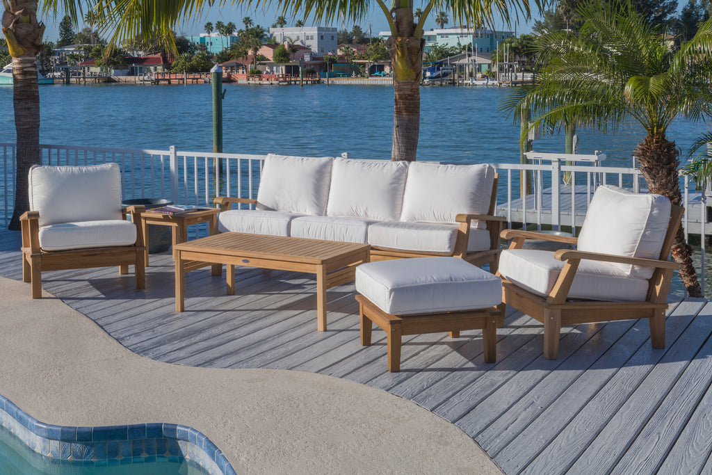Royal Teak Collection 6PC outdoor teak lounge set