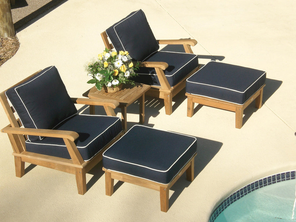 Miami Ottoman Royal Teak Collection