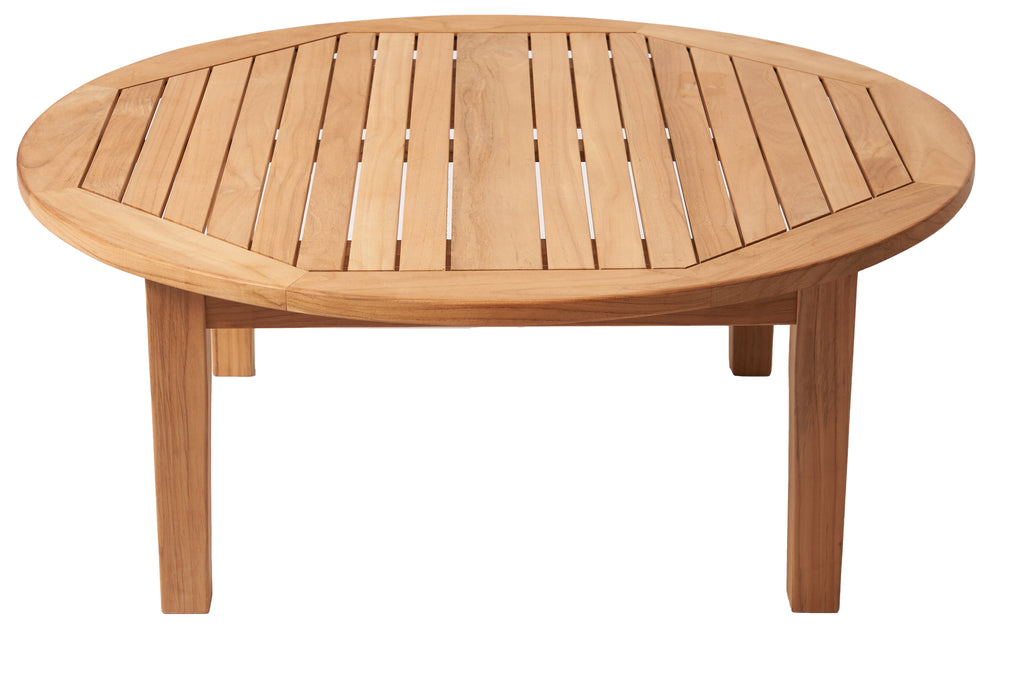 Royal teak collection round outdoor teak table