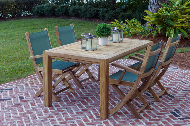 "Royal Teak Collection Comfort 63"" Dining Set (5 pc)"