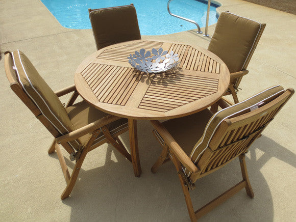 Estate Dining Set (5PC) by the Royal Teak Collection