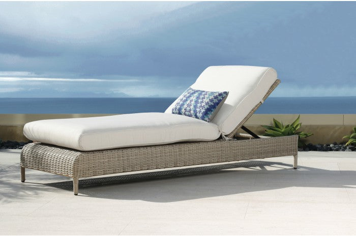 Outdoor Wicker Chaise Lounge Sunbrella Cushions