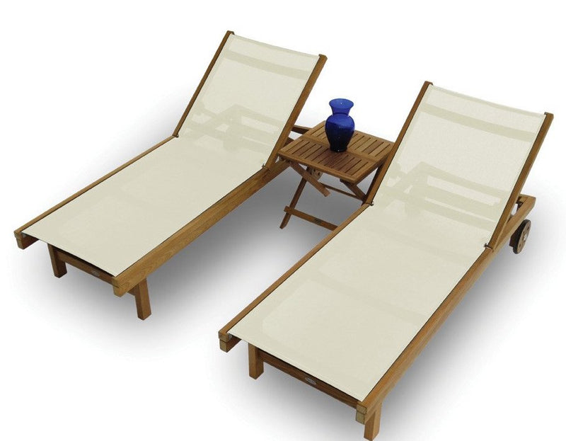Sundaze Chaise Lounge Royal Teak Collection