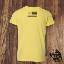 Load image into Gallery viewer, Youth Yellow Logo Tee - Made in USA