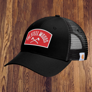 The Steel Woods Black Patch Hat