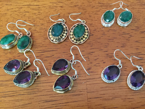 Sample Jewelry Made from Sterling Silver and Gemstones