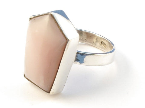 Design 113025 Lovely Unique Pink Opal .925 Sterling Silver Jewelry Ring Size 8