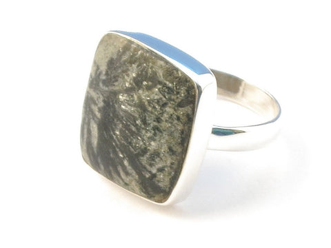 Design 113037 Artistic Rectangle Agate .925 Sterling Silver Jewelry Ring Size 7