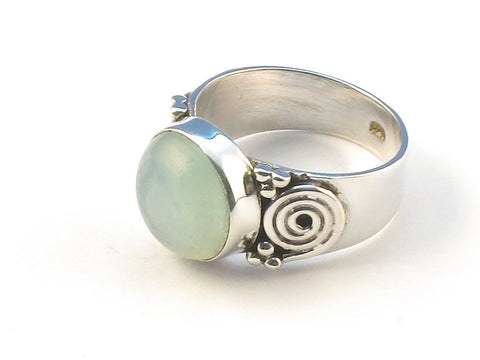 Design 113062 Premium Round Aquamarine .925 Sterling Silver Jewelry Ring Size 6