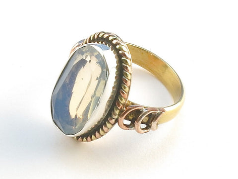 Design 114187 Jewelry Store Oval Opalite .925 Sterling Silver Jewelry Ring Size 5