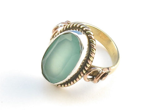 Design 114278 Lovely Oval Aquamarine .925 Sterling Silver Jewelry Ring Size 6