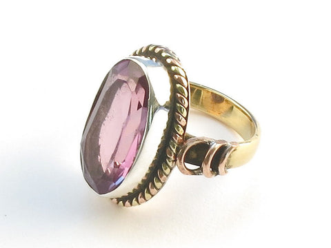 Design 114299 Jewelry Closeout Oval Purple Amethyst .925 Sterling Silver Jewelry Ring Size 5