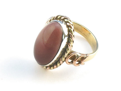 Design 114302 Exotic Oval Mookaite .925 Sterling Silver Jewelry Ring Size 5