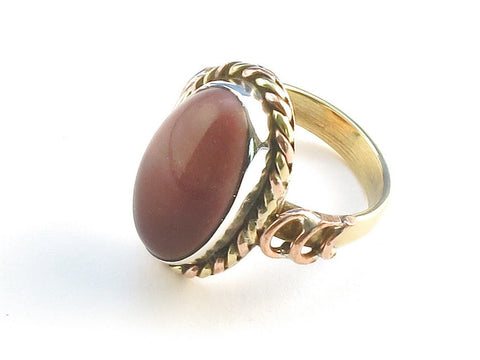 Design 114306 Lovely Oval Mookaite .925 Sterling Silver Jewelry Ring Size 9