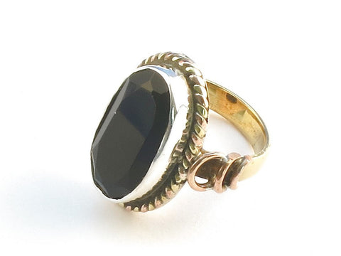 Design 114366 Premium Oval Black Onyx .925 Sterling Silver Jewelry Ring Size 5
