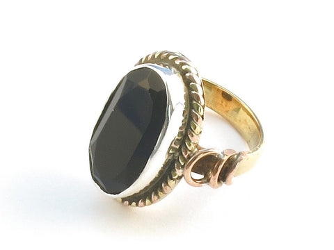 Design 114368 Special Oval Black Onyx .925 Sterling Silver Jewelry Ring Size 6.5
