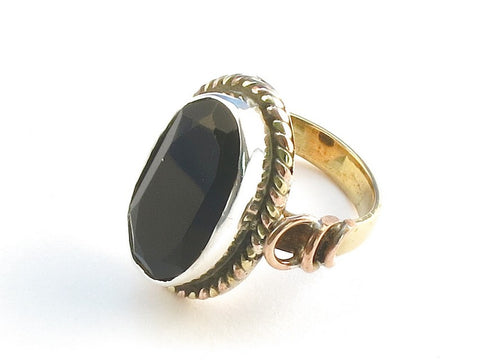 Design 114369 Jewelry Store Oval Black Onyx .925 Sterling Silver Jewelry Ring Size 7