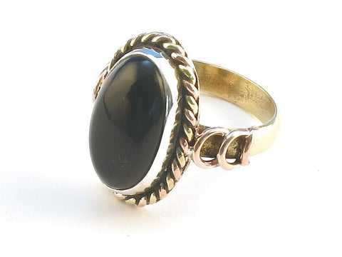 Design 114459 Wholesale Oval Black Onyx .925 Sterling Silver Jewelry Ring Size 7
