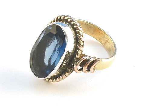 Design 114466 Shimmering Oval Iolite .925 Sterling Silver Jewelry Ring Size 5