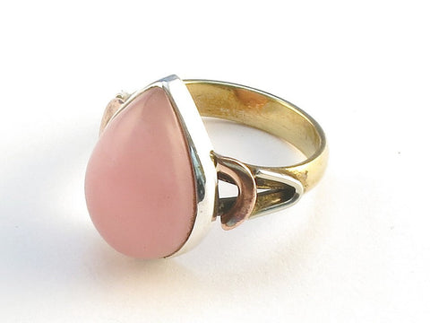 Design 114562 Original Pear Rhodocrosite .925 Sterling Silver Jewelry Ring Size 6