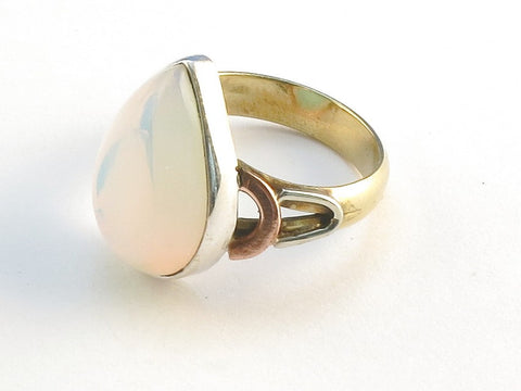Design 114579 Jewelry Shop Pear Opalite .925 Sterling Silver Jewelry Ring Size 5