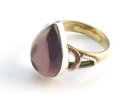 Design 114660 Premier Designs Pear Purple Amethyst .925 Sterling Silver Jewelry Ring Size 8