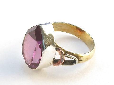 Design 114699 Exotic Pear Purple Amethyst .925 Sterling Silver Jewelry Ring Size 6
