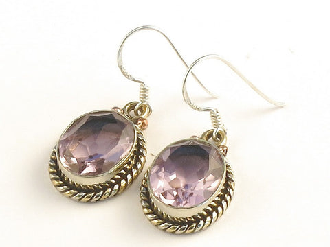 Design 115172 Artisan Jewelry Oval Kunzite .925 Sterling Silver Jewelry Earrings 1 3/8""
