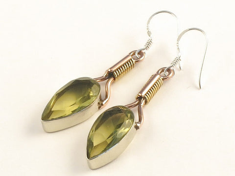 Design 115481 Jewelry Closeout Pear London Topaz .925 Sterling Silver Jewelry Earrings 2""