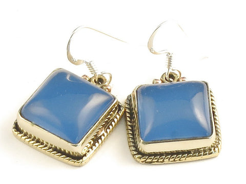 Design 115771 Premium Square Iolite .925 Sterling Silver Jewelry Earrings 1 1/4""