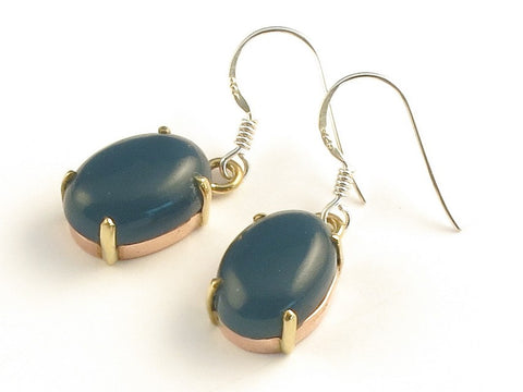Design 116006 Jewelry Closeout Oval Iolite .925 Sterling Silver Jewelry Earrings 1 3/8""