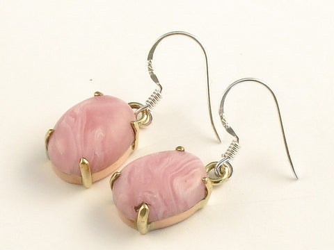 Design 116059 Handmade Oval Rhodocrosite .925 Sterling Silver Jewelry Earrings 1 3/8""