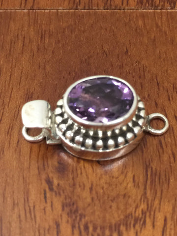 Amethyst Purple Gemstone Sterling Silver (925 Hallmark Stamped) Clasp Finding Connector Jewelry Making Bracelets Handmade - Quick Shipping