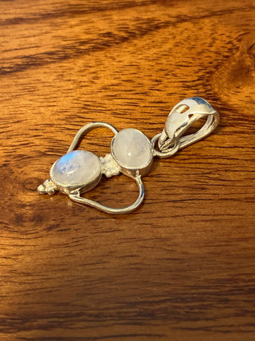 Pendant, Rainbow Moonstone Cabochon Ovals 3 Grams Gemstone Pendant Necklace Sterling Silver (.925) Pendants With Stone